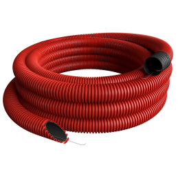 Gofrēta caurule sarkana 40mm