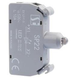 Diode 5mm zaļa 24 - 230V AC...