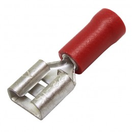 Vadu savienojums 6.3mm sarkans
