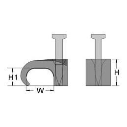Kabeļu stiprinājums 7x14 balts