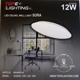 LED gaismeklis SORA 12W