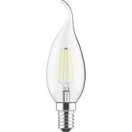 Svece LED 4W E14 caurspīdīga