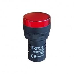 LED Spuldze 24V sarkana M22 PF
